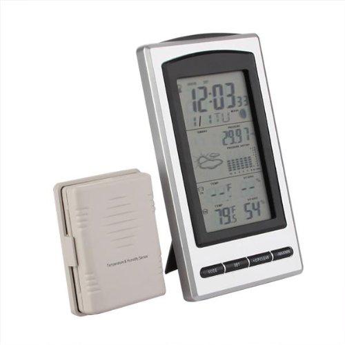 thermometre hygrometre barometre horloge meteo sans fil interieur exterieur y3. Black Bedroom Furniture Sets. Home Design Ideas