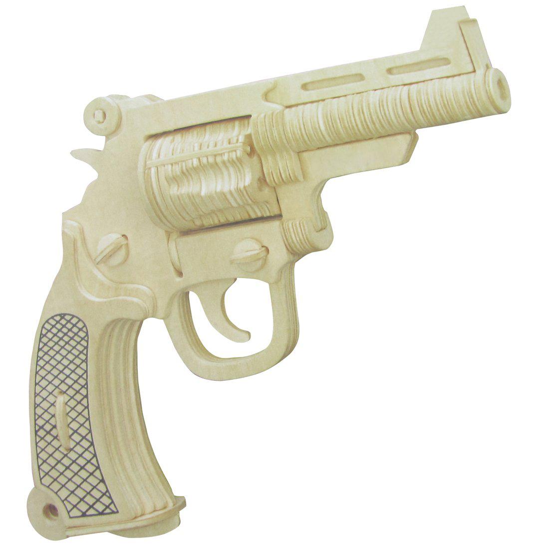 handwerk holz pistole modell puzzle spielzeug fuer kinder. Black Bedroom Furniture Sets. Home Design Ideas