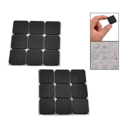 5x 18 pcs de forme carree mousse noire adhesif protection - Bloc de mousse pour coussin ...