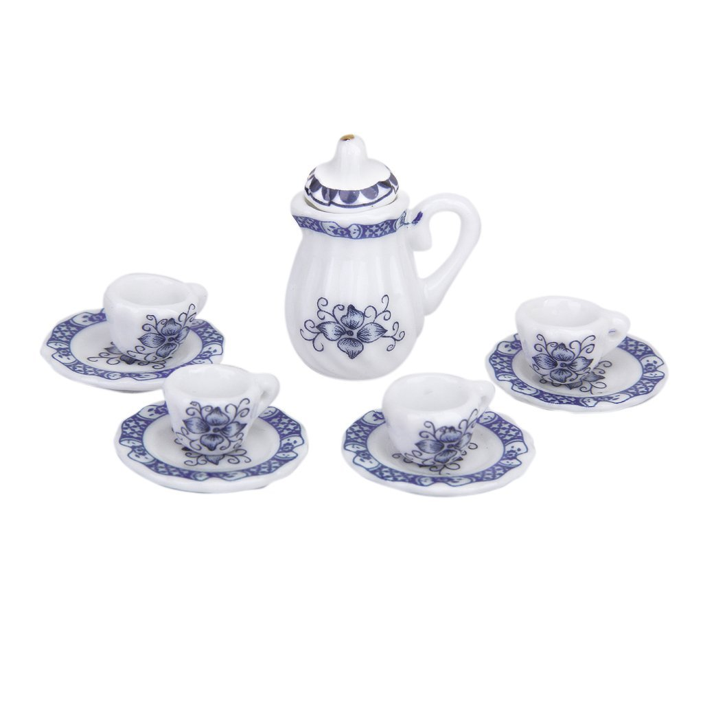 15 stueck miniatur ess geschirr porzellan tee set tasse teller gy ebay. Black Bedroom Furniture Sets. Home Design Ideas