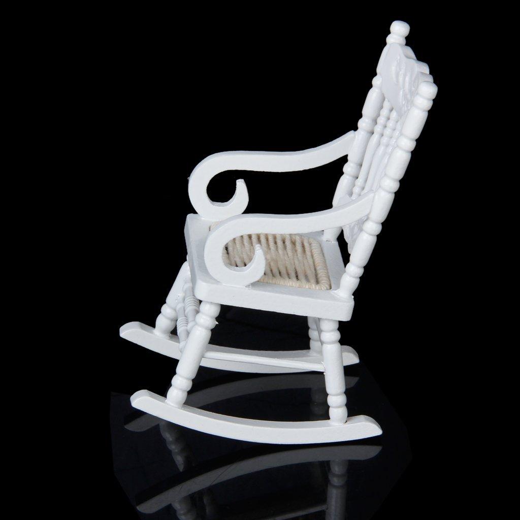 1 12 miniatur puppenhaus aus holz schaukelstuhl modell. Black Bedroom Furniture Sets. Home Design Ideas