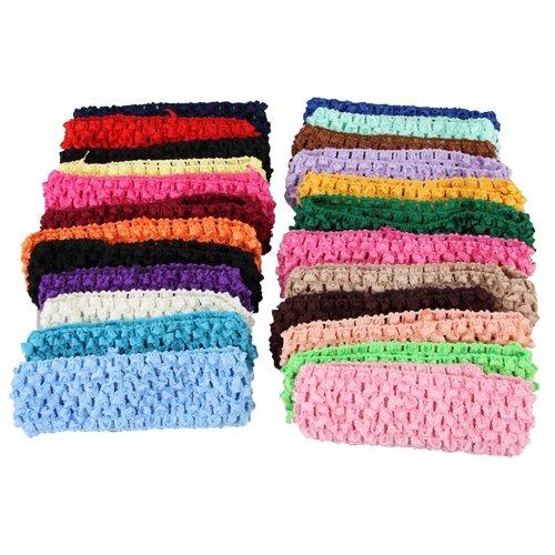 50 Stretch 15 Crochet Baby Girls Hair Band Headbands Ed