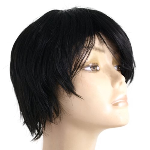 haarteil per cke kurze haare schwarz wig f r damen fein gy ebay. Black Bedroom Furniture Sets. Home Design Ideas
