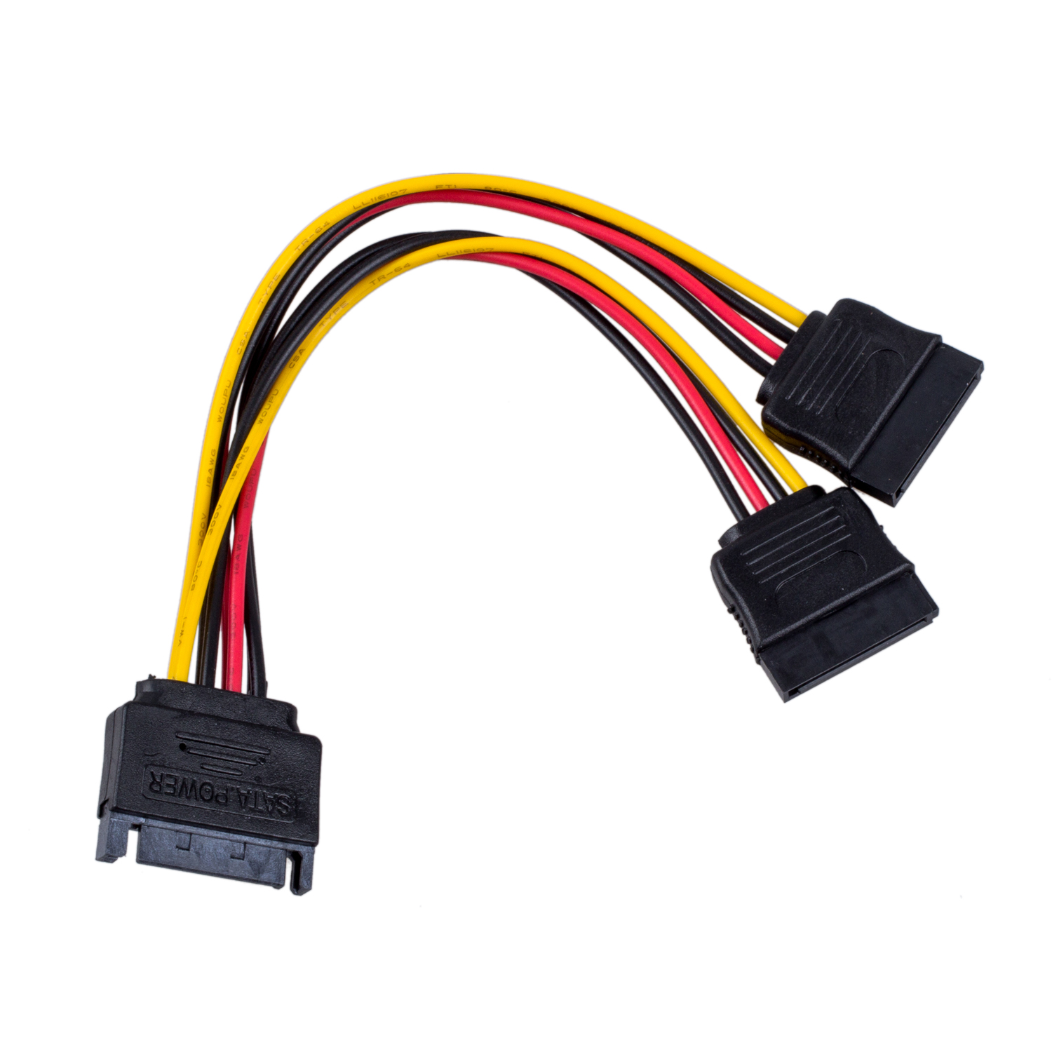 6in Sata Power Y Splitter Cable Adapter M F With 50cm Data Australian Saa Cord Plug China Mainland Cords Breaks Out Into Two Connectors Allows Connection Of Drives To One Supply Connector