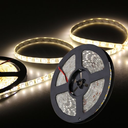 5m 5050smd 300 led leiste strip band streif warmweiss mit fb wasserdicht deko ma ebay. Black Bedroom Furniture Sets. Home Design Ideas