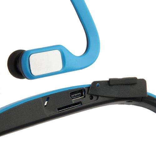 casques d 39 ecoute sport lecteur mp3 sans fil carte fm tf bleu wt ebay. Black Bedroom Furniture Sets. Home Design Ideas