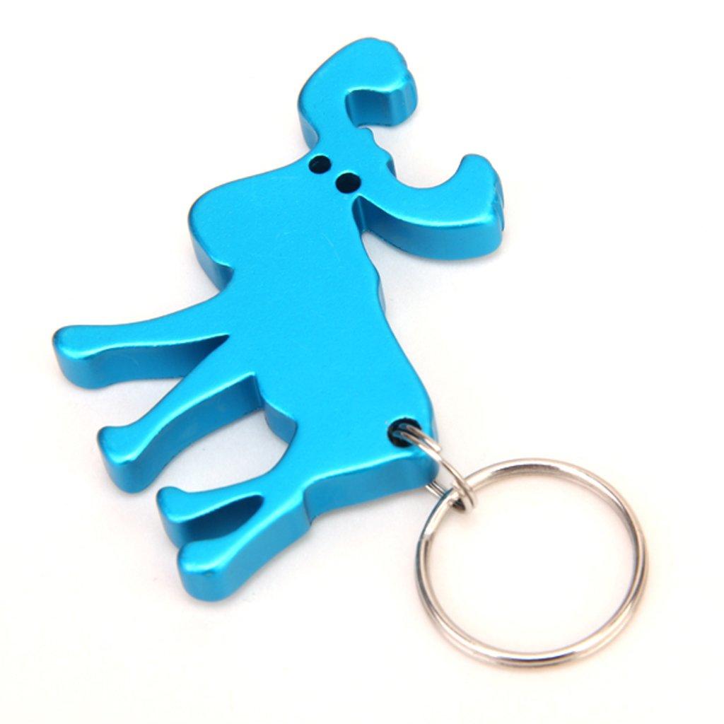reindeer shape bottle cap opener key ring blue d9i6 ebay. Black Bedroom Furniture Sets. Home Design Ideas