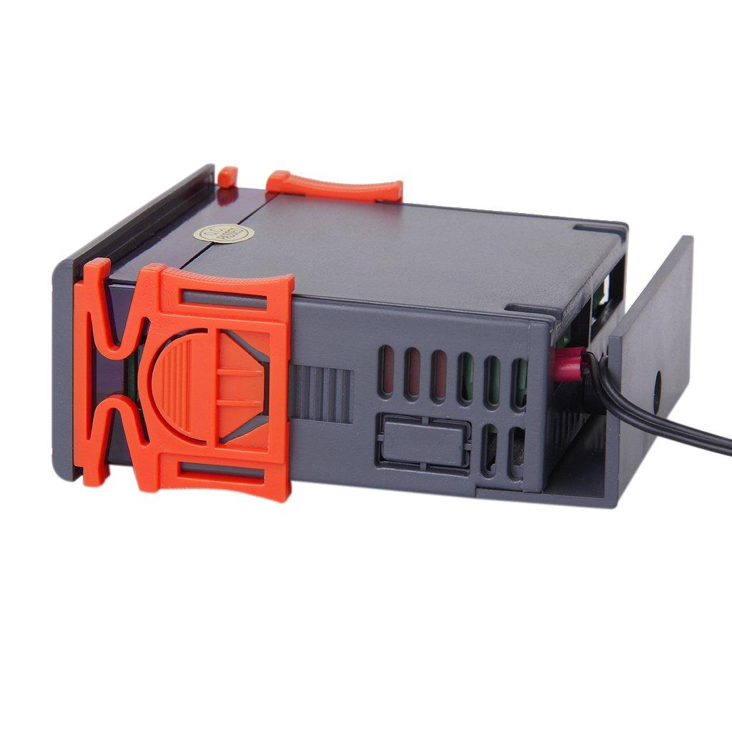 12V Digital LCD Controleur de Temperature Thermostat avec Capteur MH1210A WT 4