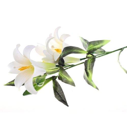 Fleur artificielle lis lys tissu plastique deco maison for Fleurs artificielles tissu