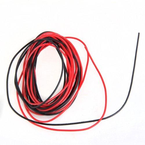2 x 3 m 22 gauge awg silikon gummi draht kabel rot schwarz. Black Bedroom Furniture Sets. Home Design Ideas