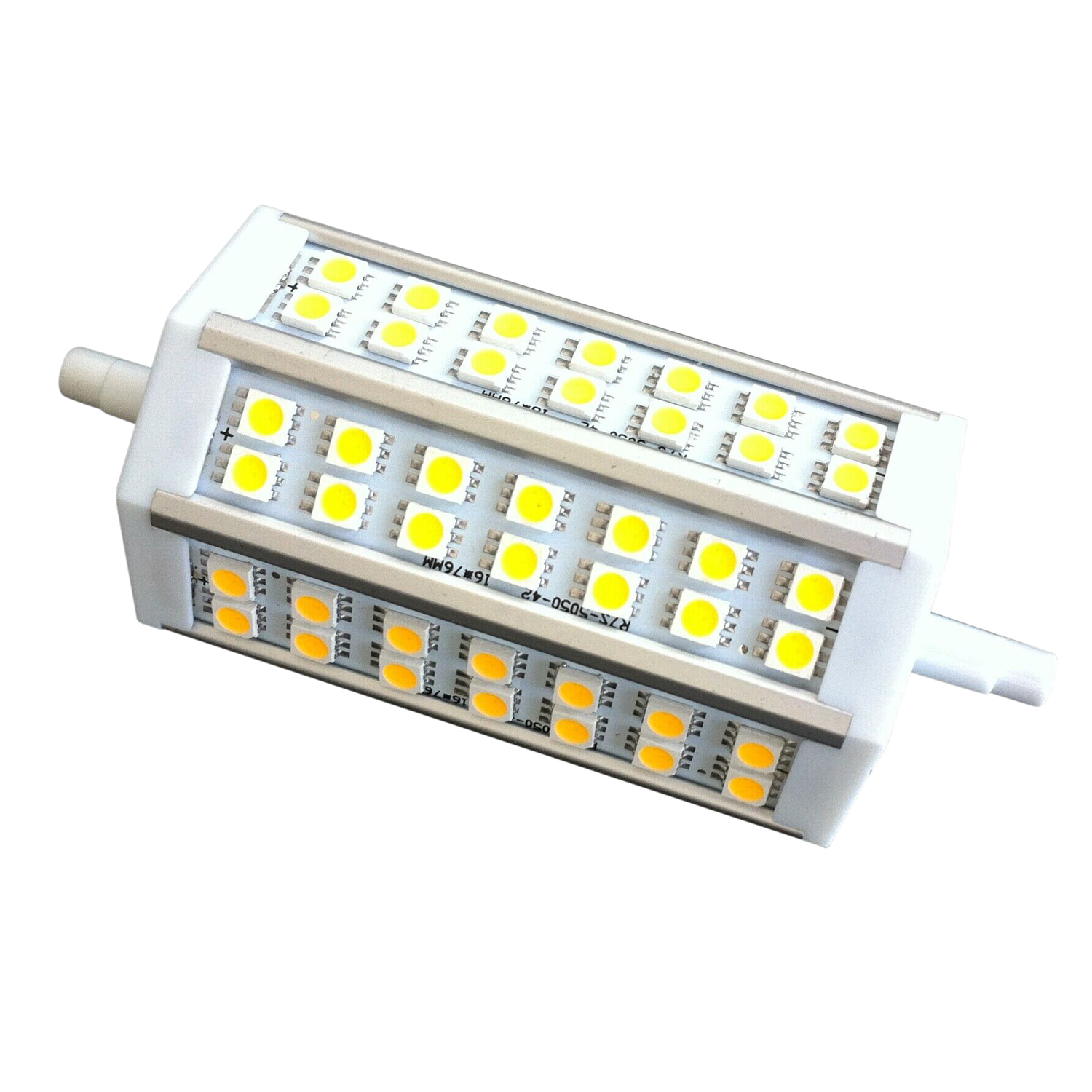 R7s 118 mm 42 led lamp bulb spot dimmable warm white for R7s 150w led