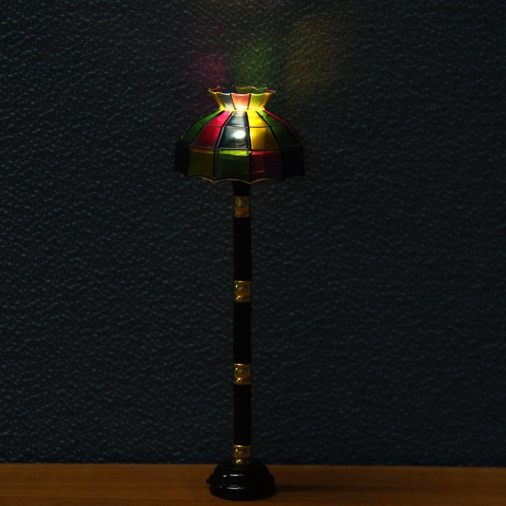 1/12 Dollhouse Miniature LED Light Switch Floor Lamp