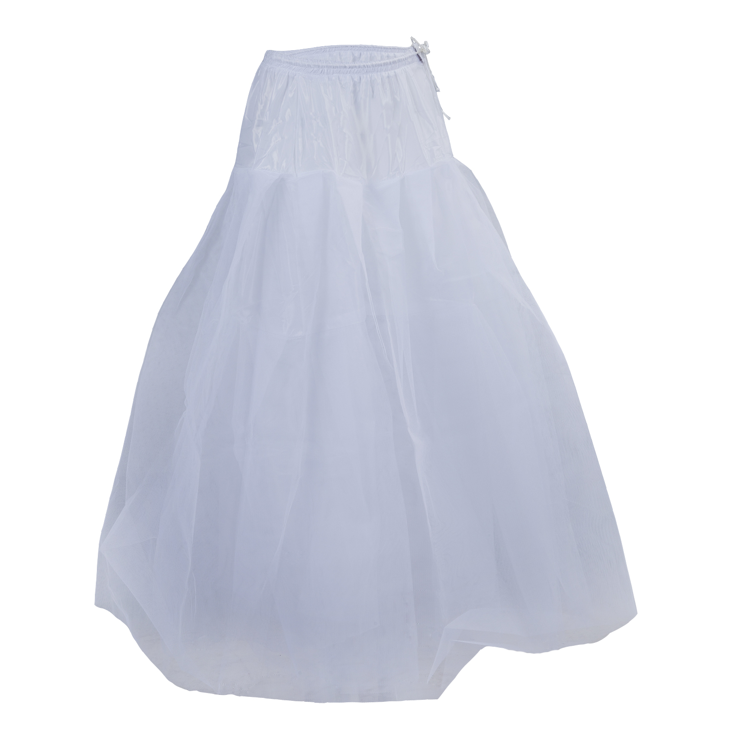White 4 layer tulle wedding ball gown crinoline petticoat for Tulle petticoat for wedding dress