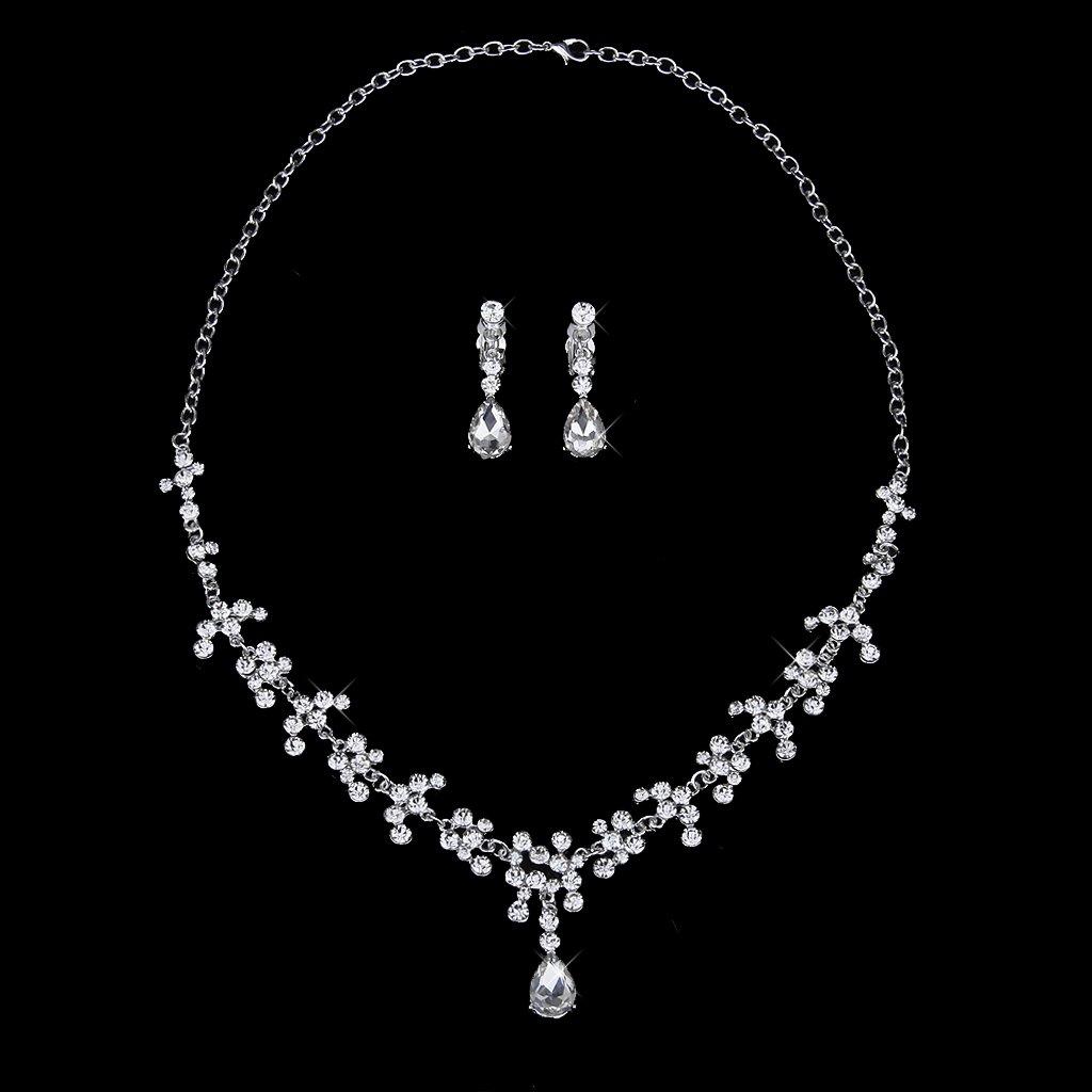 Wedding party bridal bridesmaid flower crown tiara for Bridesmaid jewelry sets under 20