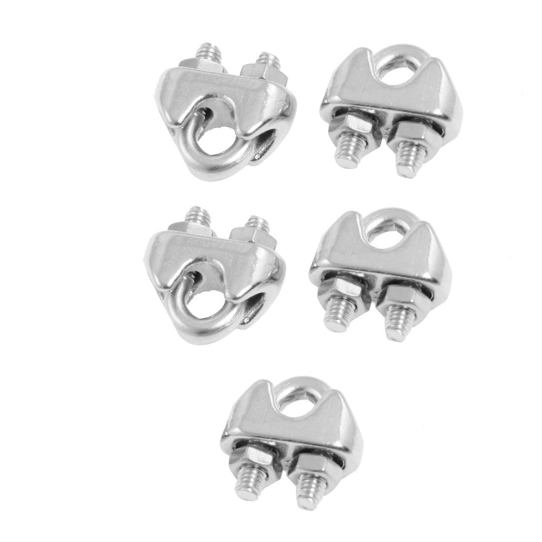 10 Pieces of Duplex 304 Stainless Steel Wire Rope Clip Cable clamp Suit for 1.5mm-2mm Rope