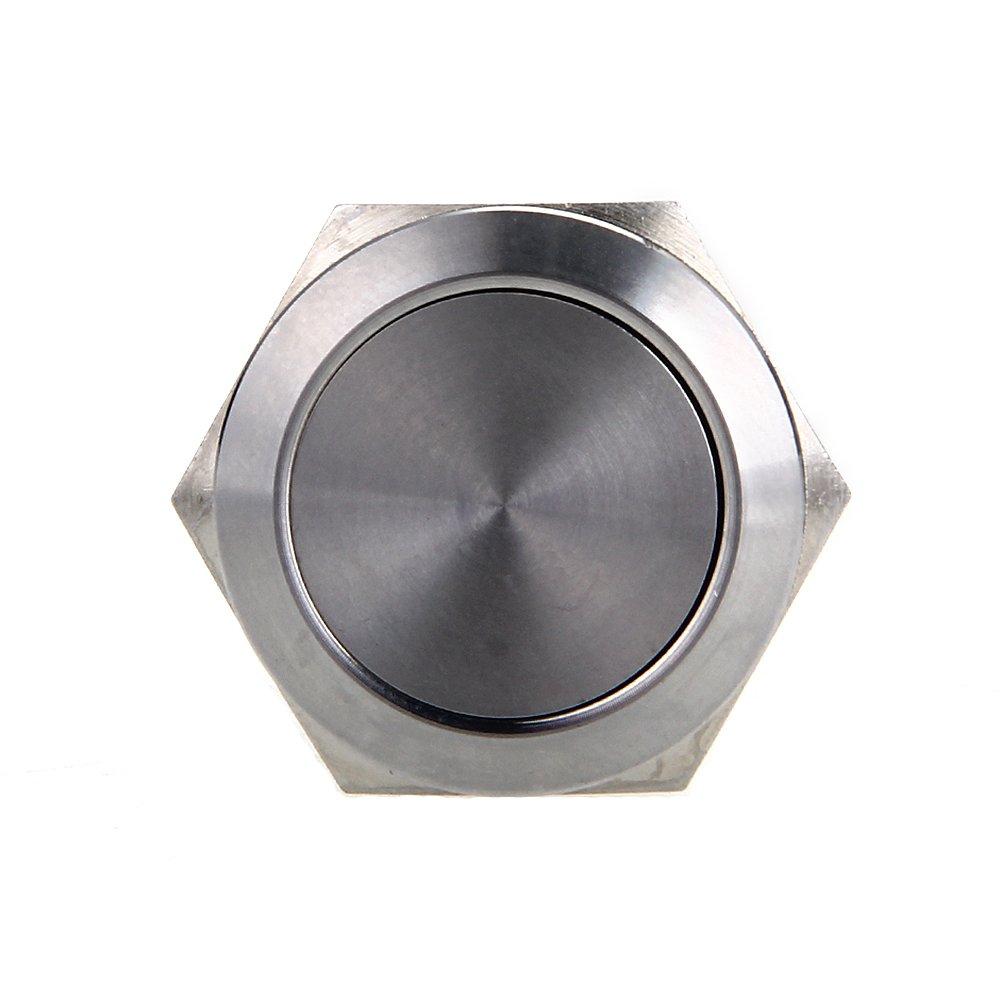 5x interrupteur a bouton poussoir bouton interrupteur argente 22mm y3 ebay - Bouton poussoir interrupteur ...