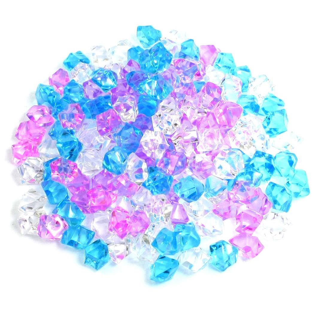 Plastic aquarium decoration stone 150 pieces blue pink for Aquarium decoration uk