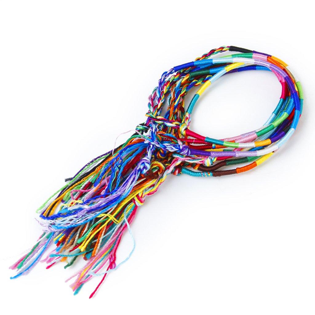 H1 Wrist Ankle Bracelet 9 X Hippie Style Braided Thread Friendship Bracelets 4894462302088 Ebay
