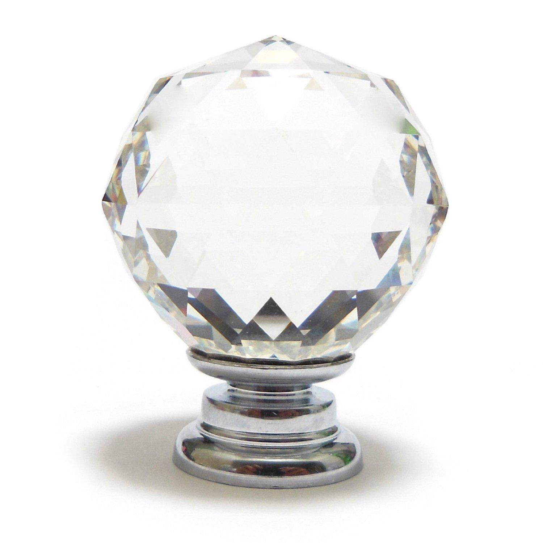2x r bouton de porte bouton de placard petit 30mm verre for Bouton de porte en verre