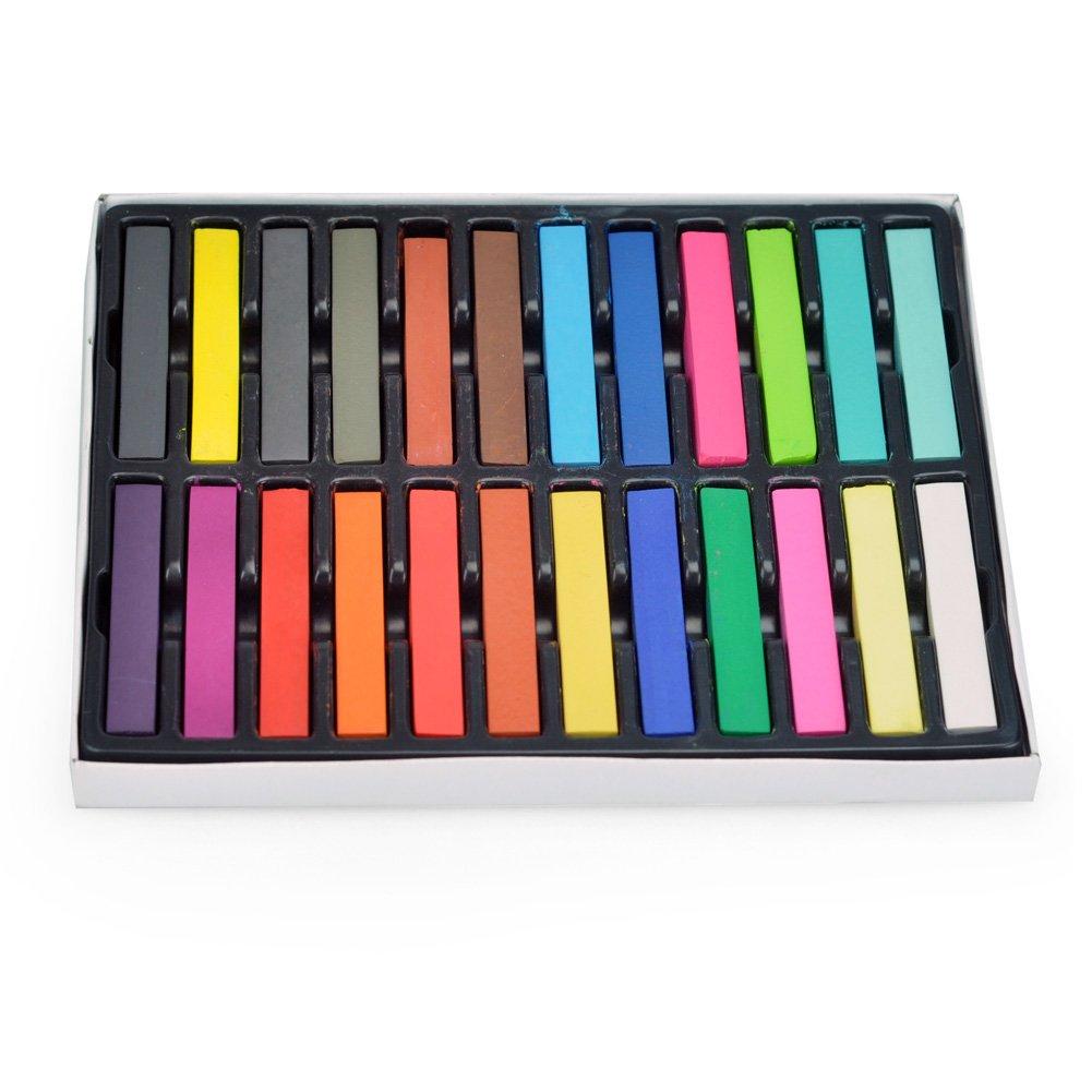 24 color diy pintura del pelo color no toxico temporal del - Tinte para pintura ...