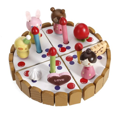 Wooden Pretend Play Birthday Cake Toy SP