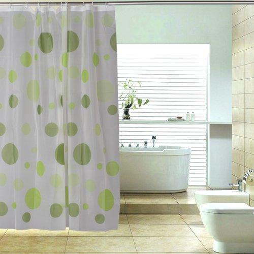 Peva tenda della doccia bagno tenda con asta ganci - Asta tenda doccia ...