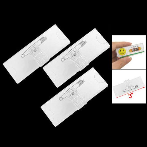 Work Number Writing On The Name Tag Safety Pin Back And A Clip Built In T Of Clothes Small One Card Is Ideal For Restaurant