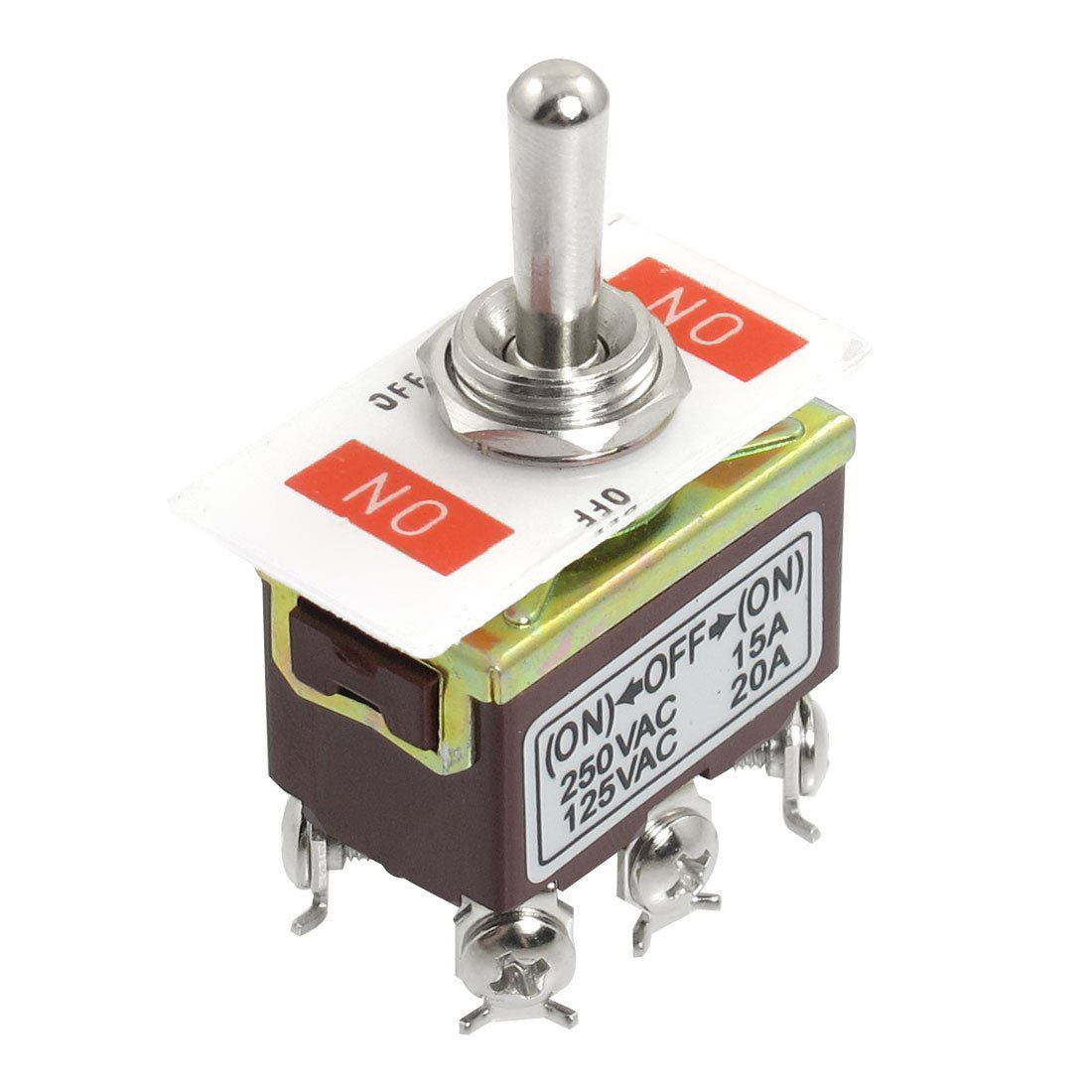 AC 250V/15A 125V/20A ON/OFF/ON 3 Position DPDT Momentary Toggle ...