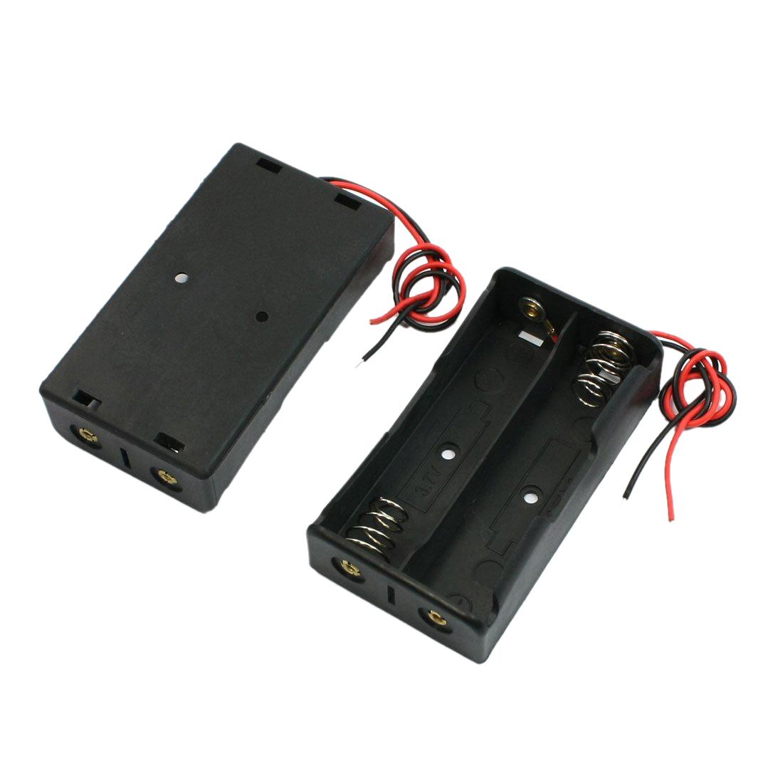2 Stk. Schwarz 2 x 18650 3.7V Batteriehalter Kasten Box mit ...