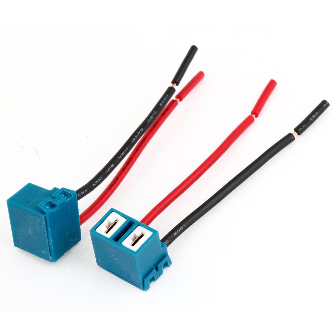 H7 Headlight Bulb Socket : H ceramic headlight light bulb wire plug socket for