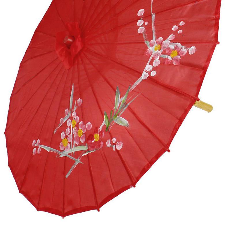 pflaume muster roter tanz regenschirm 31 5 durchmesser orientalischer chin x1v1 ebay. Black Bedroom Furniture Sets. Home Design Ideas