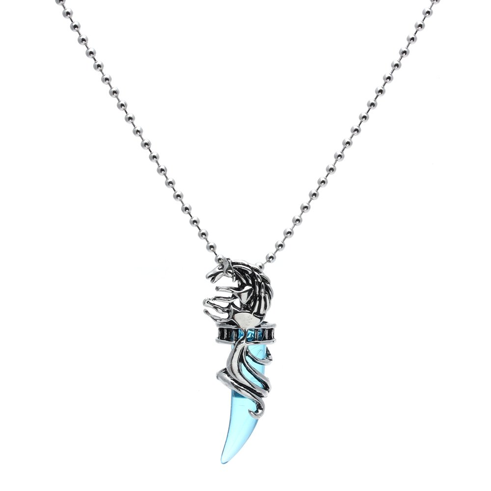 9663e70506d4e Details about Mens Vintage Crystal Wolf Stainless Steel Pendant Necklace AD