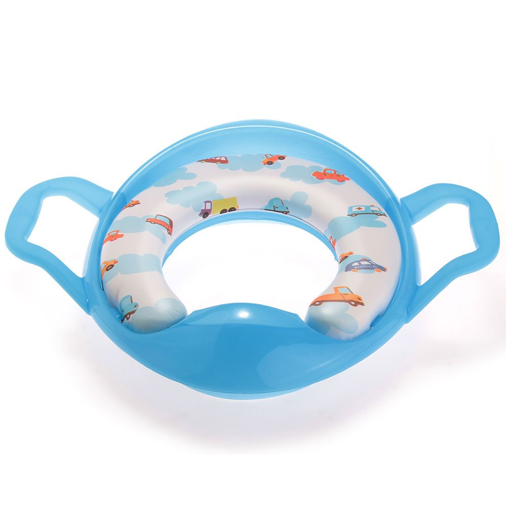 Blue Pot Toilet Seat Bezel Wc Reducer With Handle For Baby