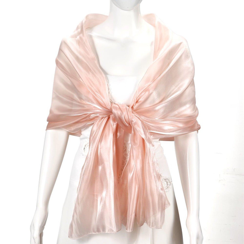 84fb1092ca57 Echarpe Foulard soie femme Cheche chale silk long soiree mariage Rose 100%  neuf mousseline de soie. Echarpe  Foulard pour mariage, soiree et d autres  fetes