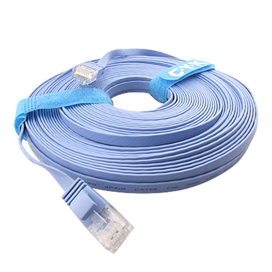 20m cat6 flat utp ethernet network cable rj45 patch lan cord blue q2g4 ebay - Cable ethernet 20m ...