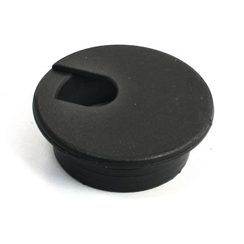 Round Plastic Computer Desk Cable Grommet Hole Cover 35mm