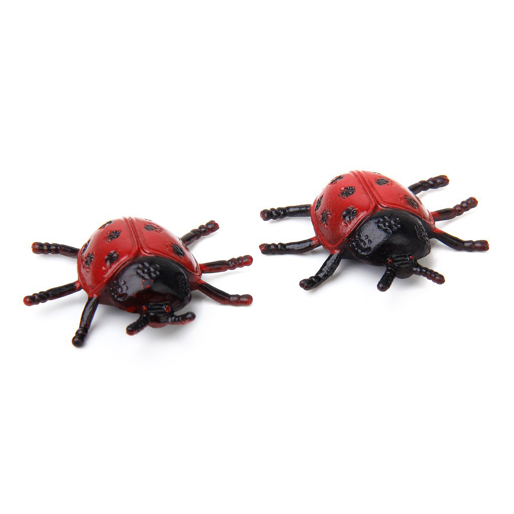2pcs lovely ladybird ladybug insect toy for kids home decoration
