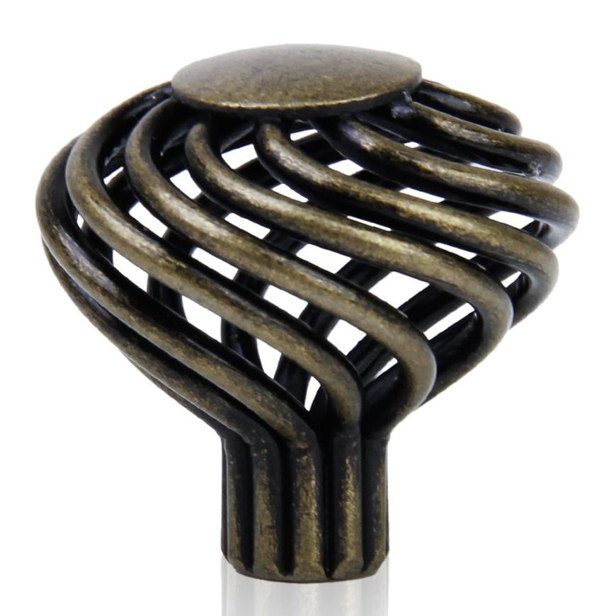 Brass Kitchen Cabinet Handles: 8 X Spiral Cage Kitchen Cabinet Handles Knobs 34mm