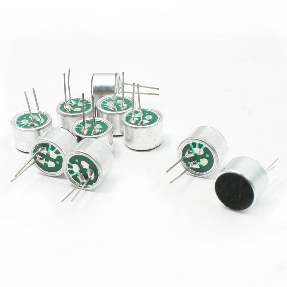10pcs Brand New Mini MIC Capsule Electret Condenser 2 Pins UHK