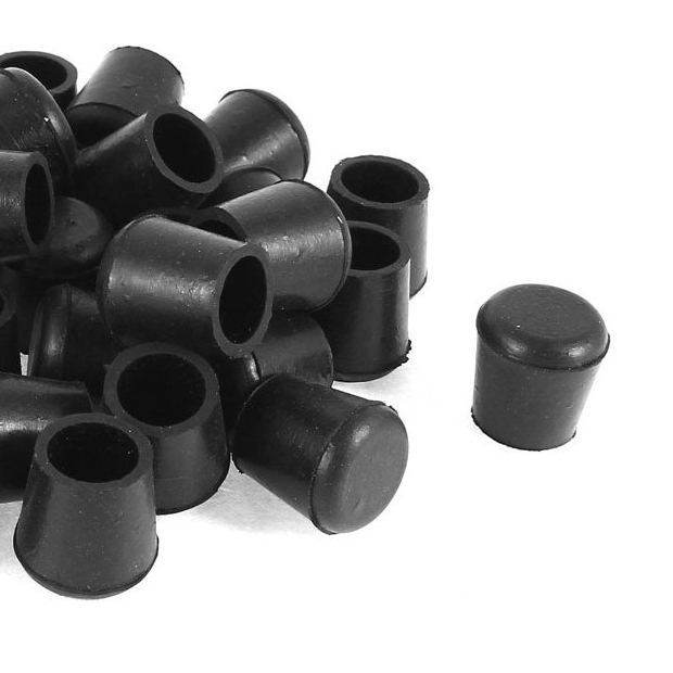 40 Pcs Black Rubber Chair Table Feet Pipe Tube Tubing End