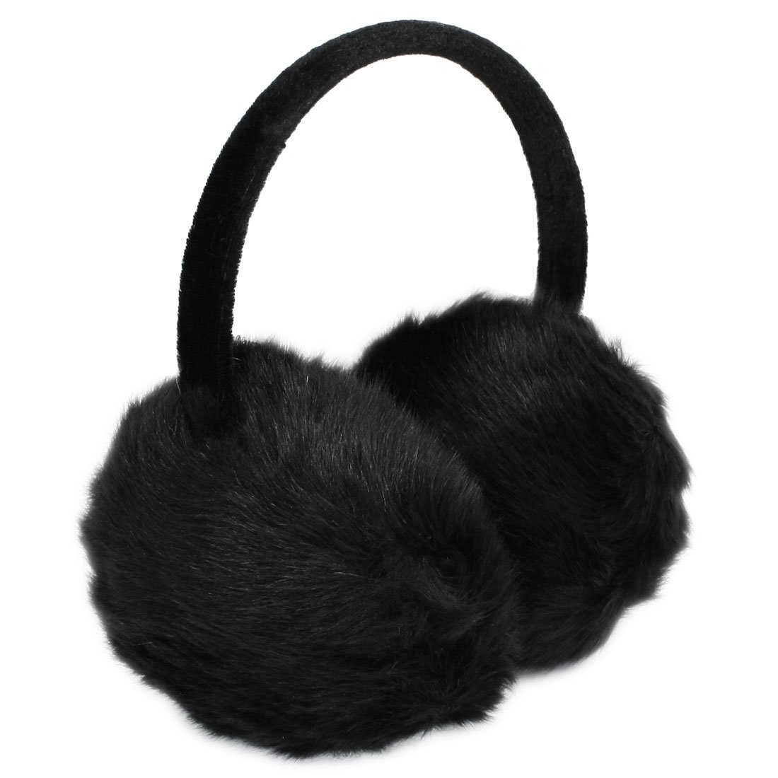 h1 lady woman headband black faux fur winter ear cover. Black Bedroom Furniture Sets. Home Design Ideas