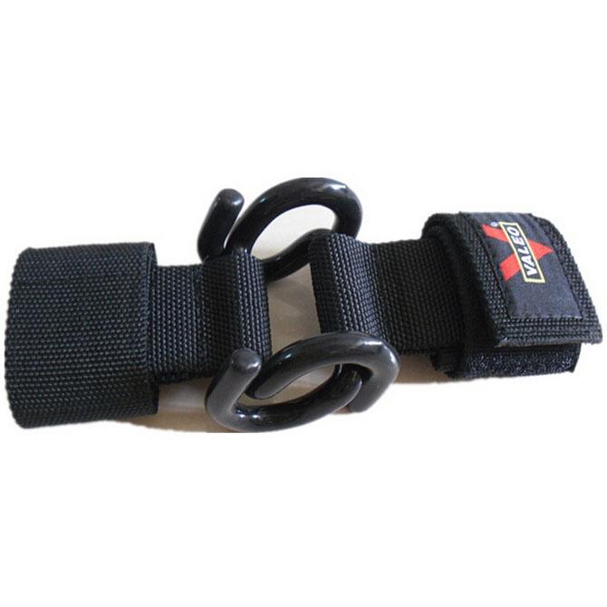 Quality Gym Weight Lifting Strap Heavy Duty Wrist: VALEO 2 X Black Power Double Hooks Weight Lifting Wrist