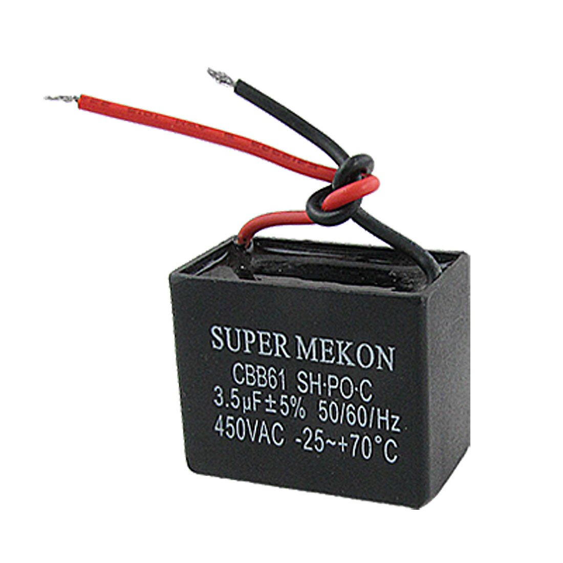 B3 3.5uf 450VAC 50/60Hz 2 Wire Fan Capacitor CBB61 3.5MFD ...