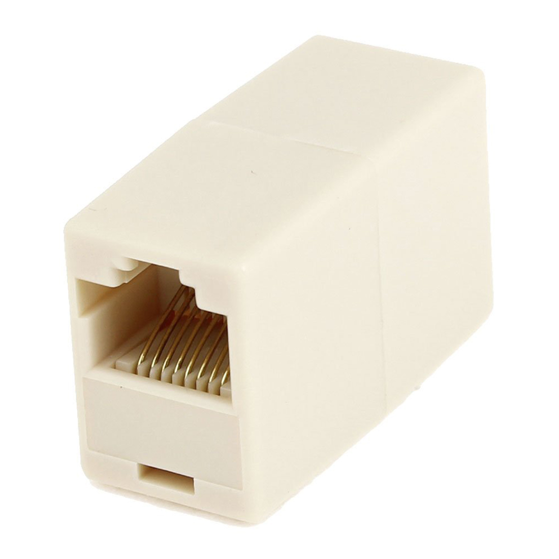 rj45 double female plug telephone adapter connector beige bt ebay. Black Bedroom Furniture Sets. Home Design Ideas