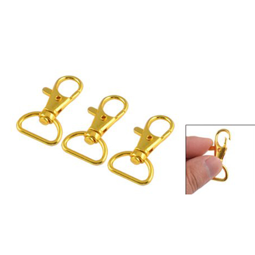 3Pcs Metal Lobster Clasps Swivel Trigger Clips Lanyard Snap Hook Claw Key Ring