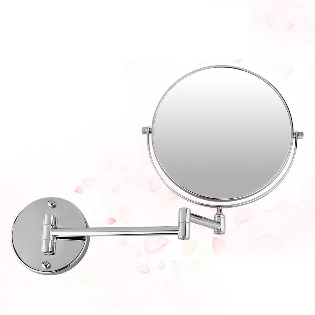 Chrome 8 miroir mural ronde miroir de courtoisie miroir for Force de miroir ebay