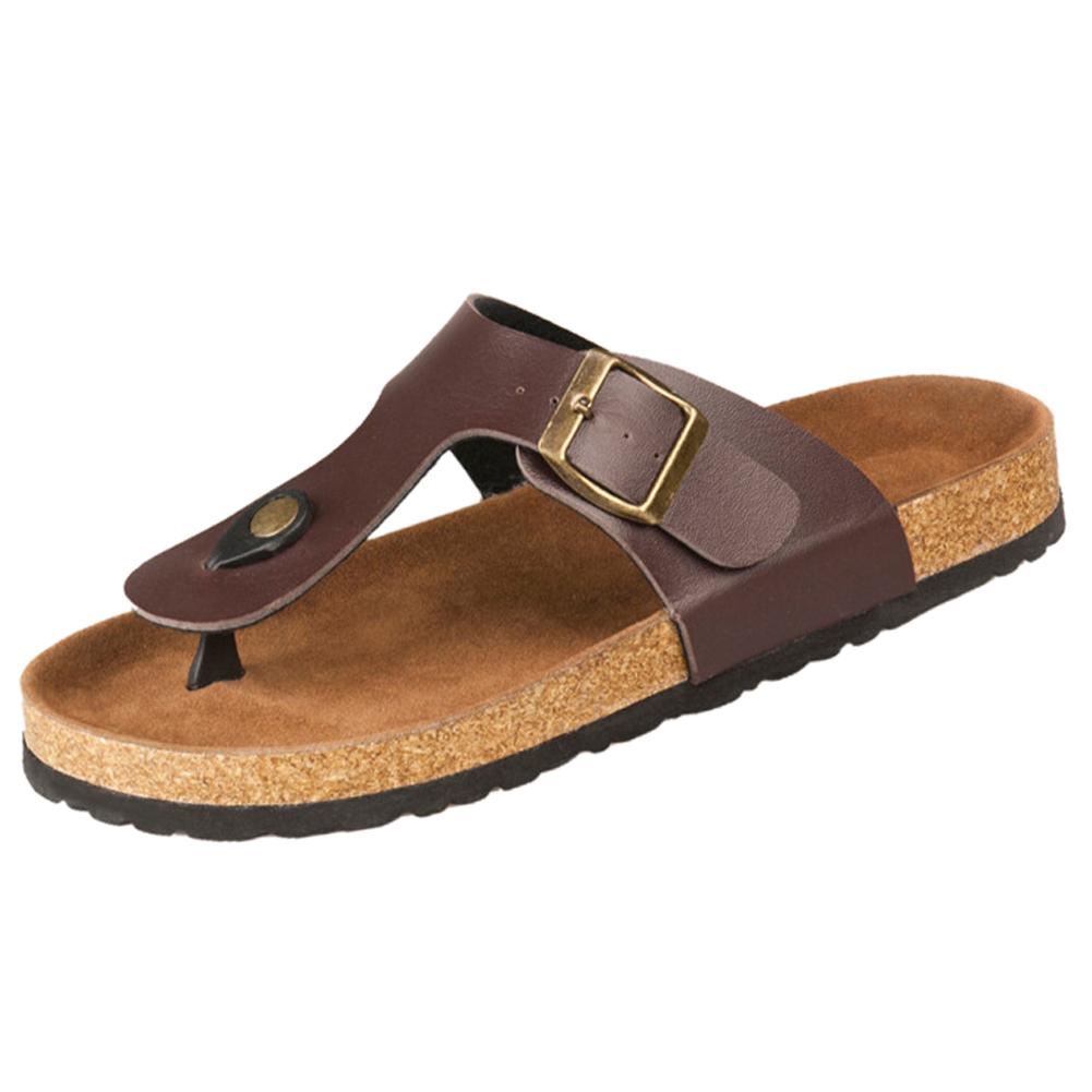 New cork flats sandals men and women summer flip flops ...