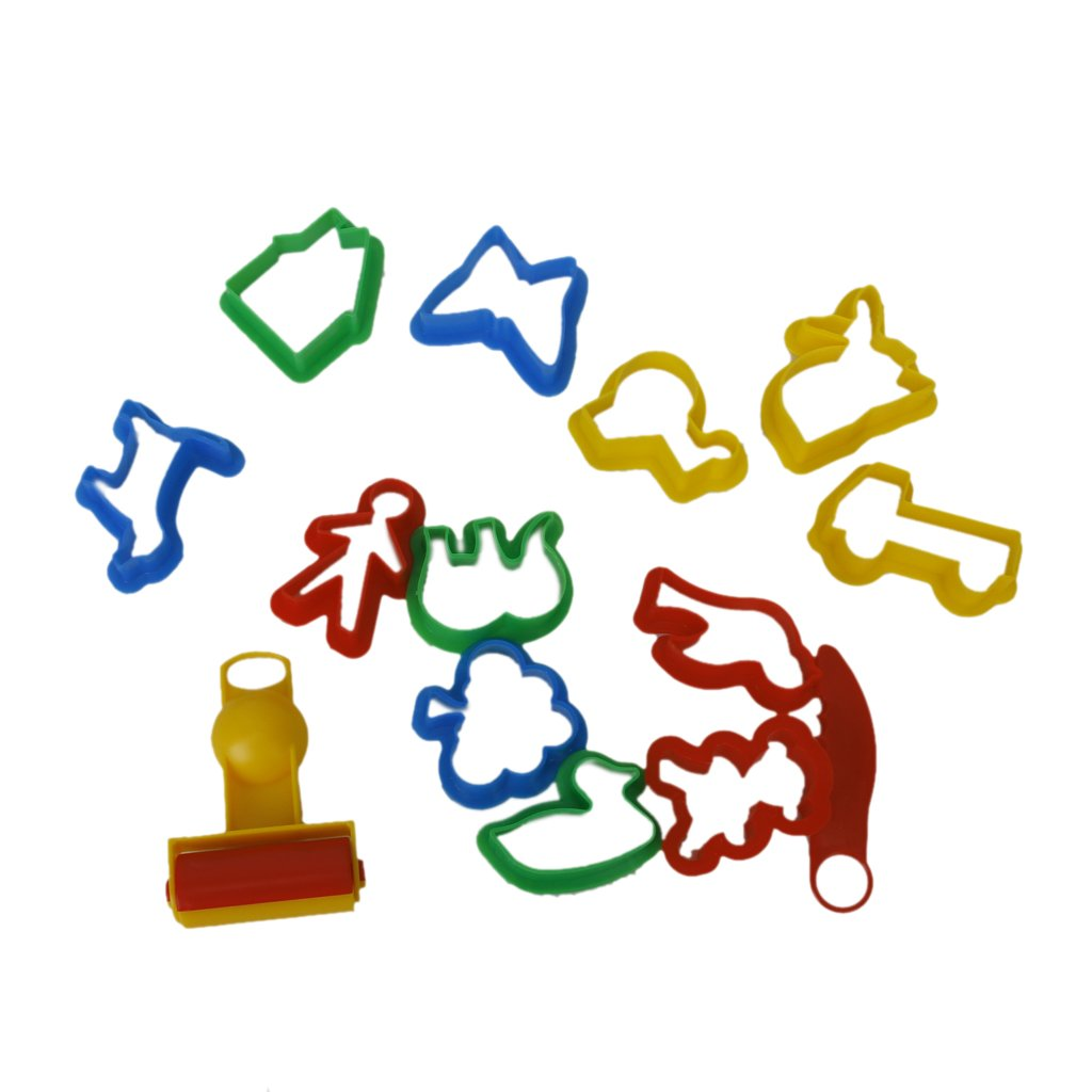 12 PCS Colorful Shapes Kids Children Cartoon Clip Bookmarks Beautiful Q6E7