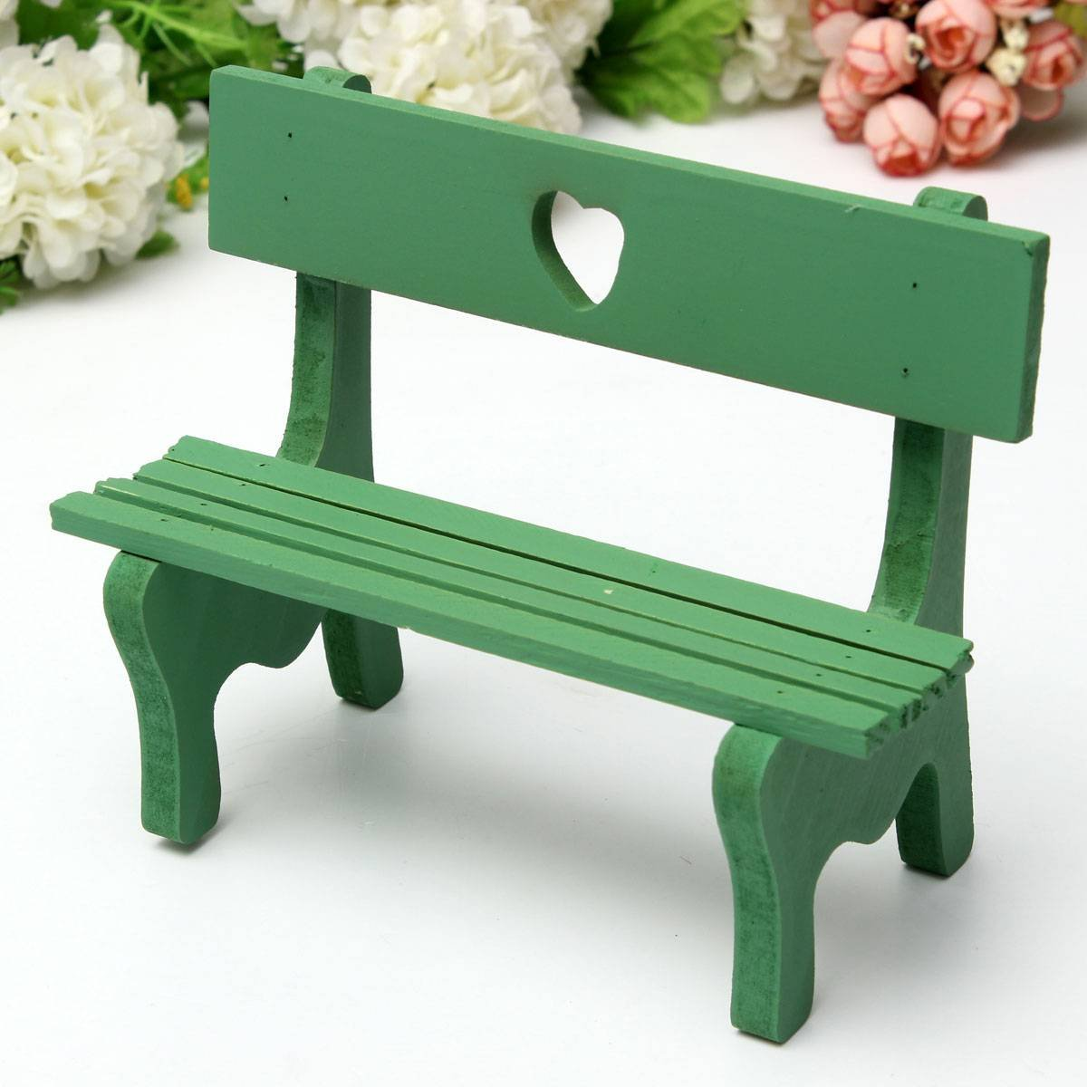 miniature landscape plant diy craft garden decor green chair bench n3