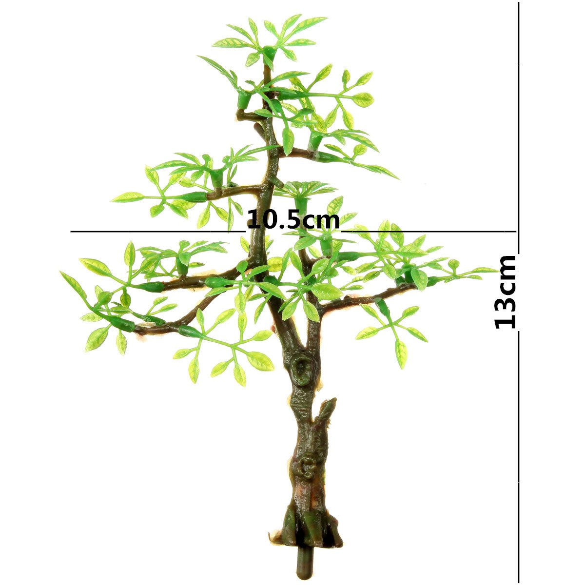 Plastic Bonsai Green Tree Aquarium Ornament Fish Tank Underwater ...